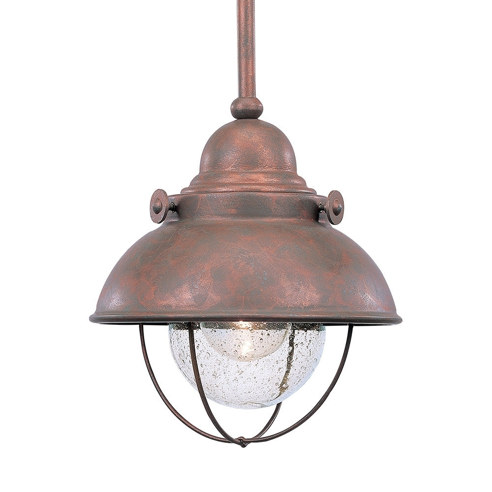 Weathered Copper Outdoor Mini Pendant, Lighting, Laura of Pembroke