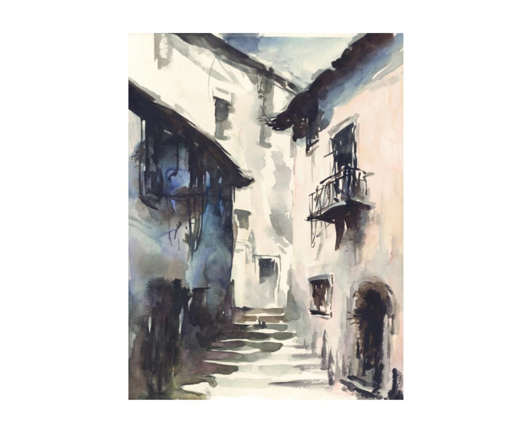 Street in Italy Painting, Home Accessories, Laura of Pembroke