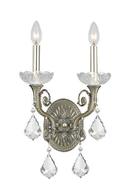 Majestic 2 Light Brass Sconce, Lighting, Laura of Pembroke