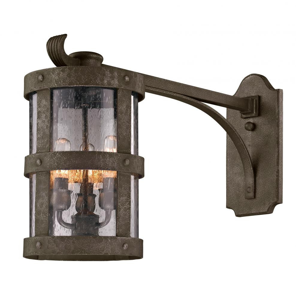 Bronze Outdoor 3 Light Wall Lantern, Lighting, Laura of Pembroke