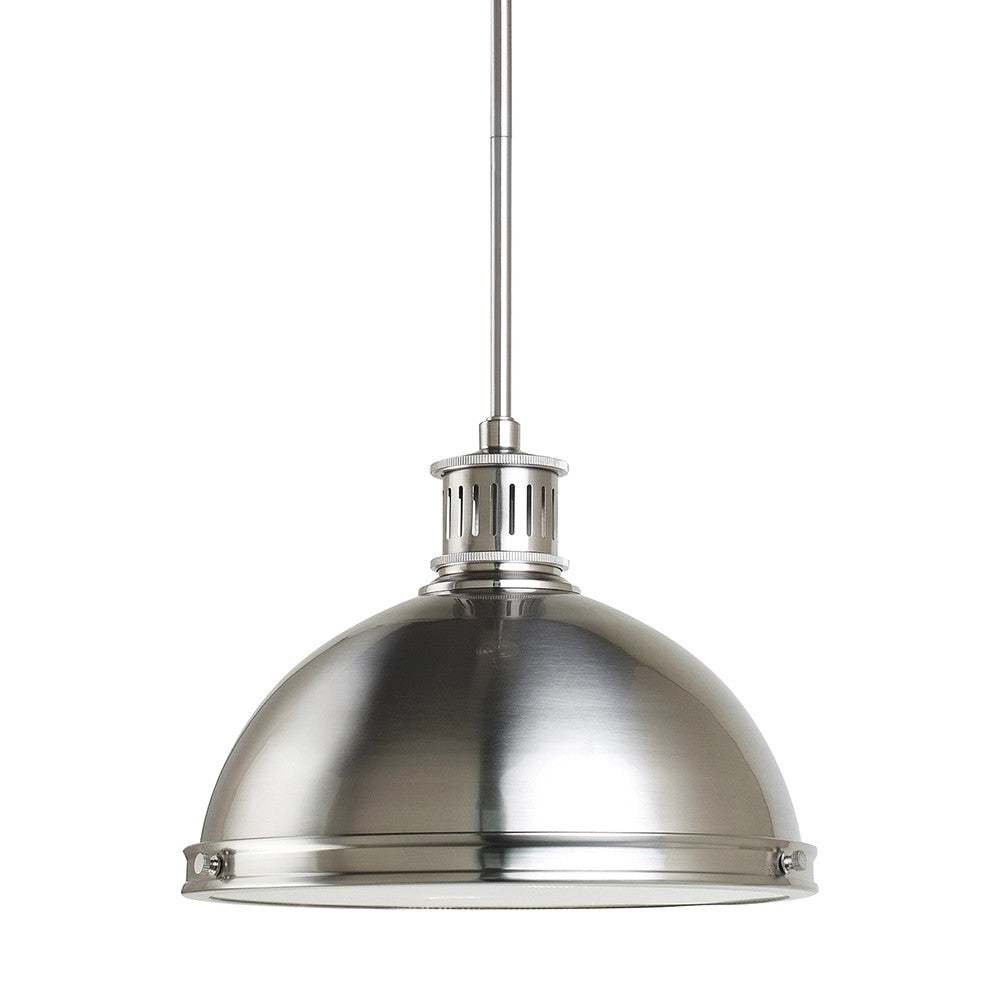 Brushed Nickel 2 Light Pendant, Lighting, Laura of Pembroke
