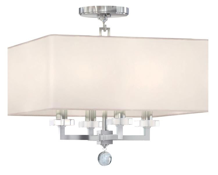 Nickel 4 Light Ceiling Mount, Lighting, Laura of Pembroke