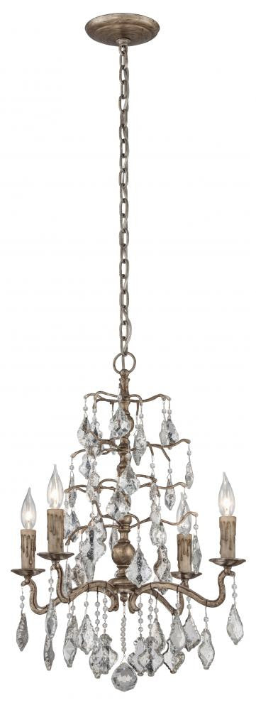Vienna Bronze 4 Light Chandelier, Lighting, Laura of Pembroke