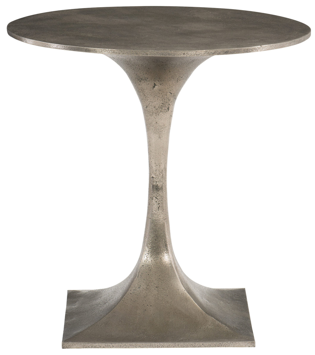 Aluminum Round Top Pedestal Side Table