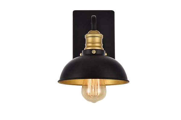 Anders Black and Brass 1 Light Sconce, Lighting, Laura of Pembroke