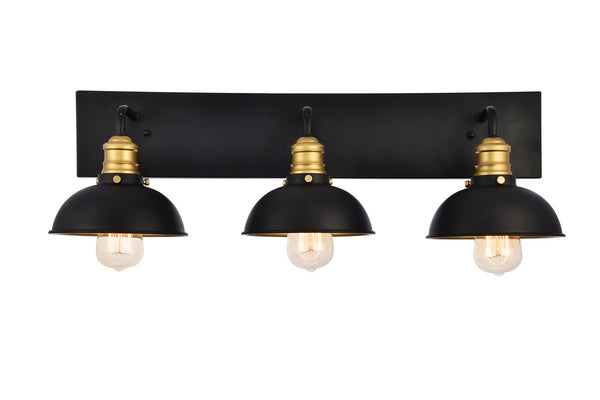 Anders Black and Brass 3 Light Sconce