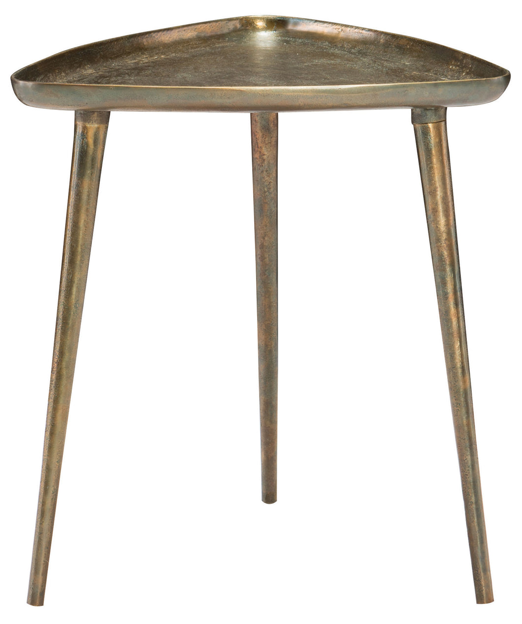 Antique Dark Brass Cast Aluminum End Table, Home Furnishings, Laura of Pembroke