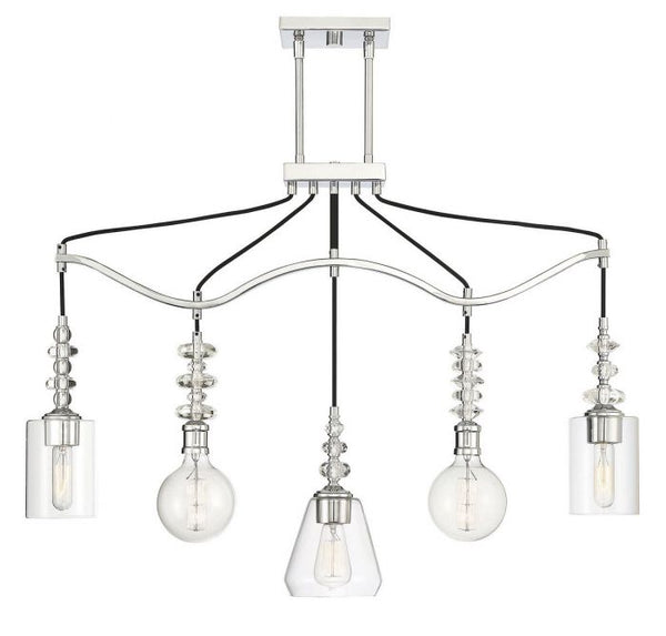 Apollo 5 Light Linear Chandelier