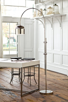 Arc Floor Lamp With Metal Shade, Home Accessories, Laura of Pembroke