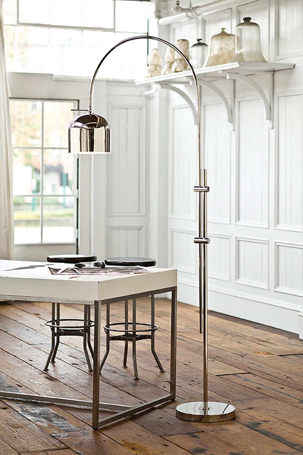 Arc Floor Lamp With Metal Shade – Laura of Pembroke