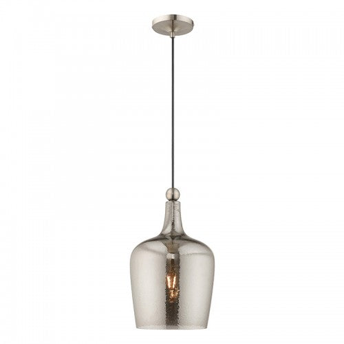 Art Glass Mini Pendants 1 Light Brushed Nickel Mini Pendant, Lighting, Laura of Pembroke