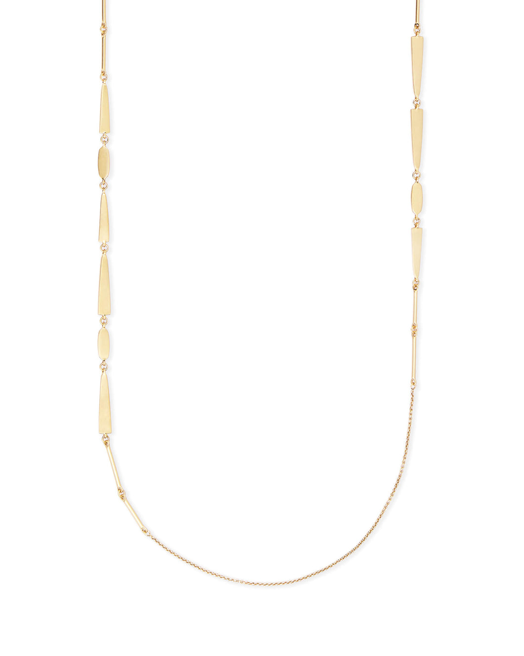 Averil Long Necklace In Gold
