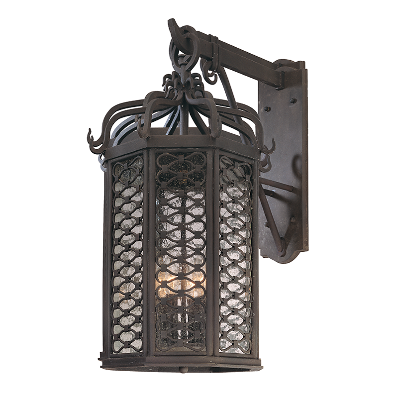 Old Iron 4 Light Hanging Wall Lantern