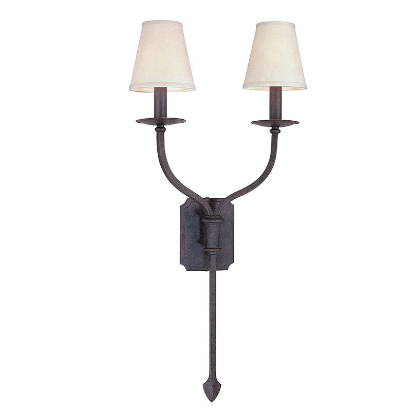 French Iron 2 Light Wall Sconce