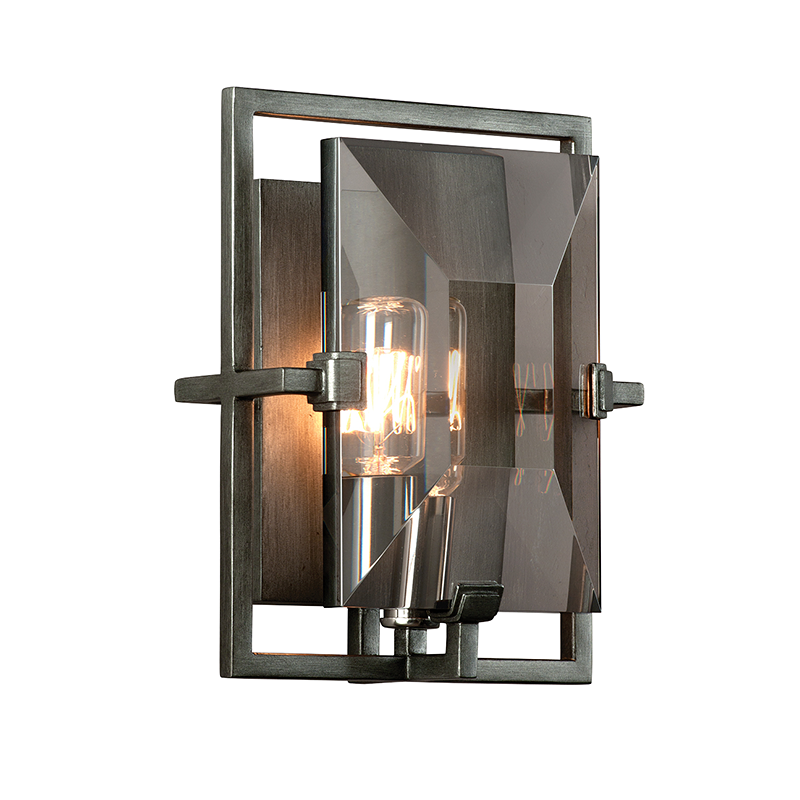 Graphite Prism Wall Sconce, Lighting, Laura of Pembroke