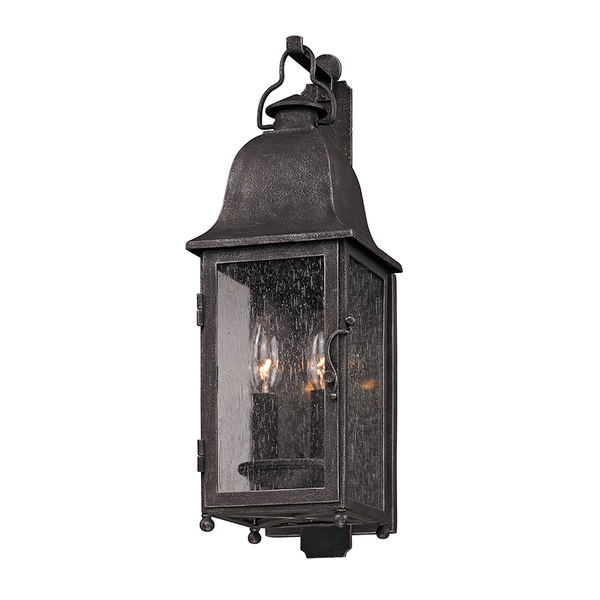Outdoor Larchmont Aged Pewter Small Wall Lantern