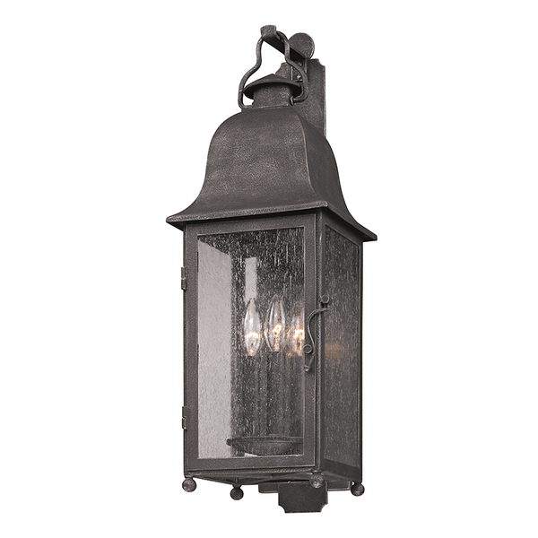 Outdoor Larchmont Aged Pewter Medium Wall Lantern