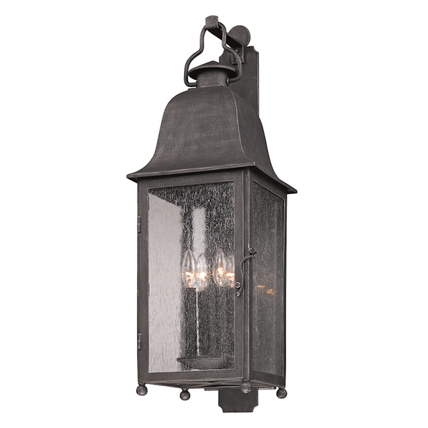 Outdoor Larchmont Aged Pewter Large Wall Lantern
