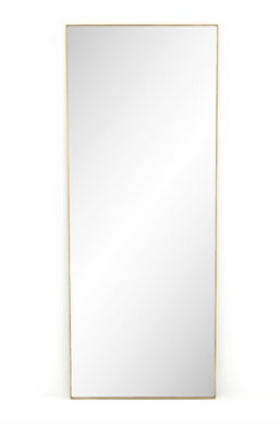 Polished Brass Floor Mirror