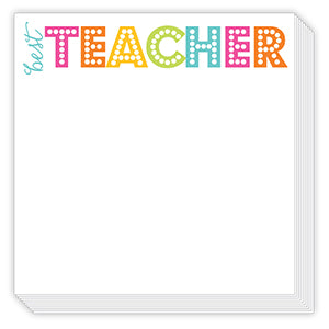 BEST TEACHER HOT PINK LUXE NOTEPAD