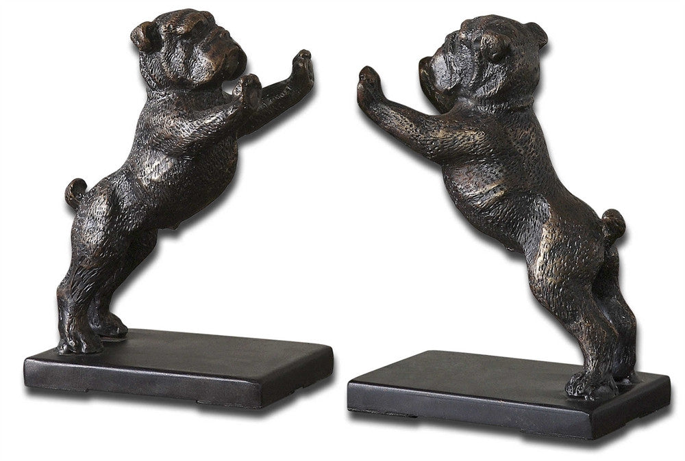 Bulldogs Set of 2 Book Ends, Home Accessories, Laura of Pembroke