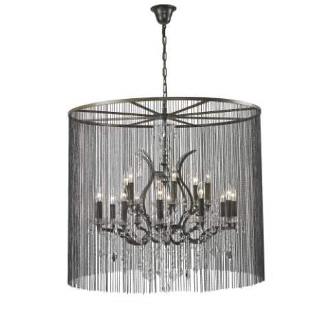 Large Burlesque Crystal Chandelier
