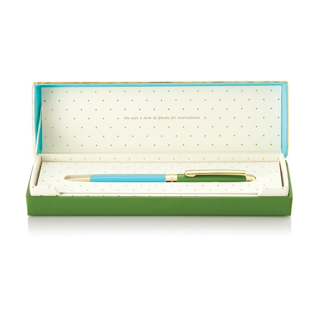 Green and Turquoise Ballpoint Pen, Gifts, Kate Spade New York, Laura of Pembroke