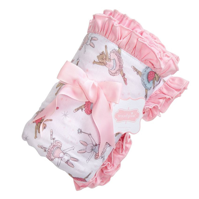 Ballerina Ruffle Blanket, Gifts, Mud Pie, Laura of Pembroke