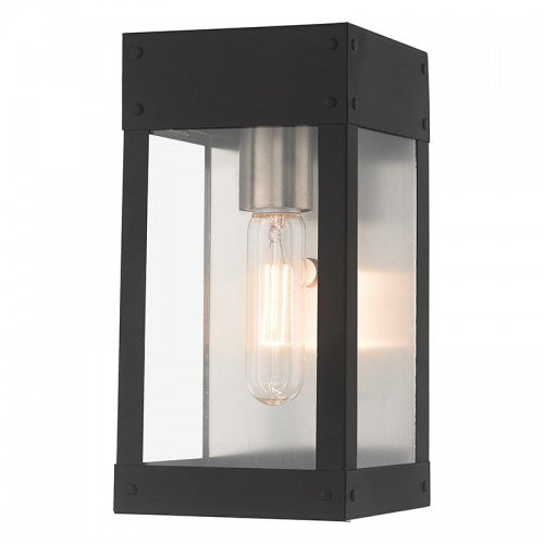 Barrett 1 Light Black Wall Lantern, Lighting, Laura of Pembroke