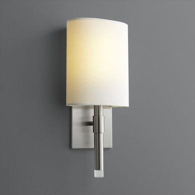 Satin Nickel Beacon Sconce - Small