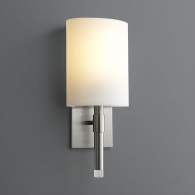 Satin Nickel Beacon Sconce - Large