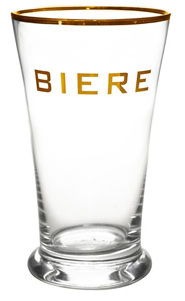 Biere Highball with Gold Rim