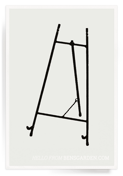 Black Metal Iron Easel, Home Accessories, Ben's Garden, Laura of Pembroke