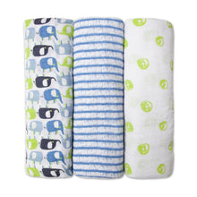 Blue Elephant Swaddle Pack