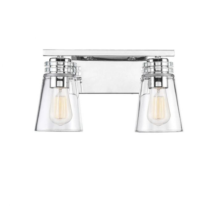 Brannon 2 Light Polished Nickel Bath Bar