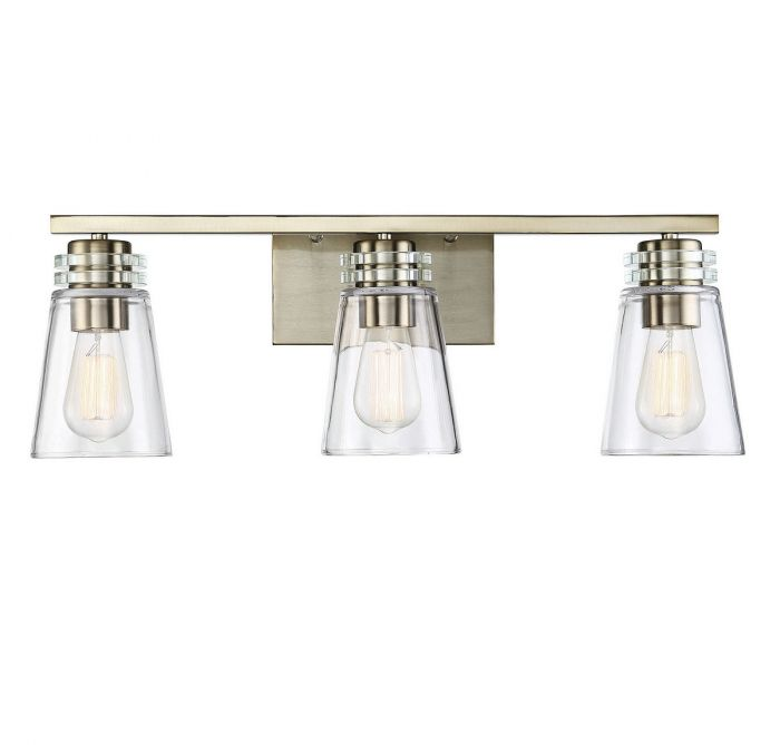 Brannon 3 Light Noble Brass Bath Bar