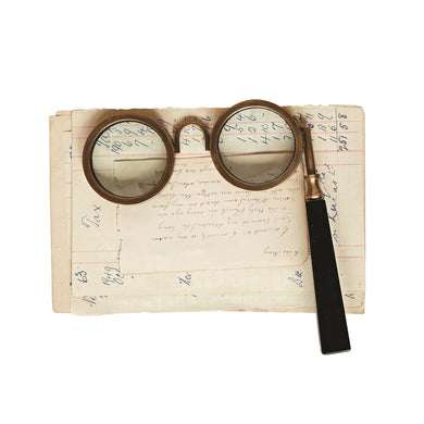 Brass & Resin Spectacle Magnifying Glass