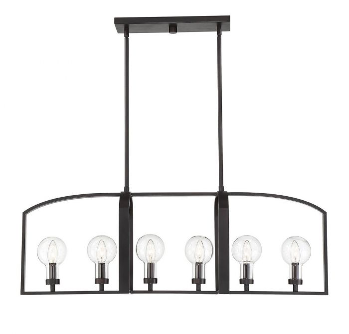 Brockton 6 Light Outdoor Linear Chandelier