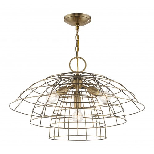 Brooklyn 4 Light Antique Brass Chandelier, Lighting, Laura of Pembroke
