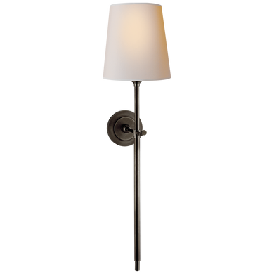 Bryant Large Tail Sconce in Bronze with Natural Paper Shade