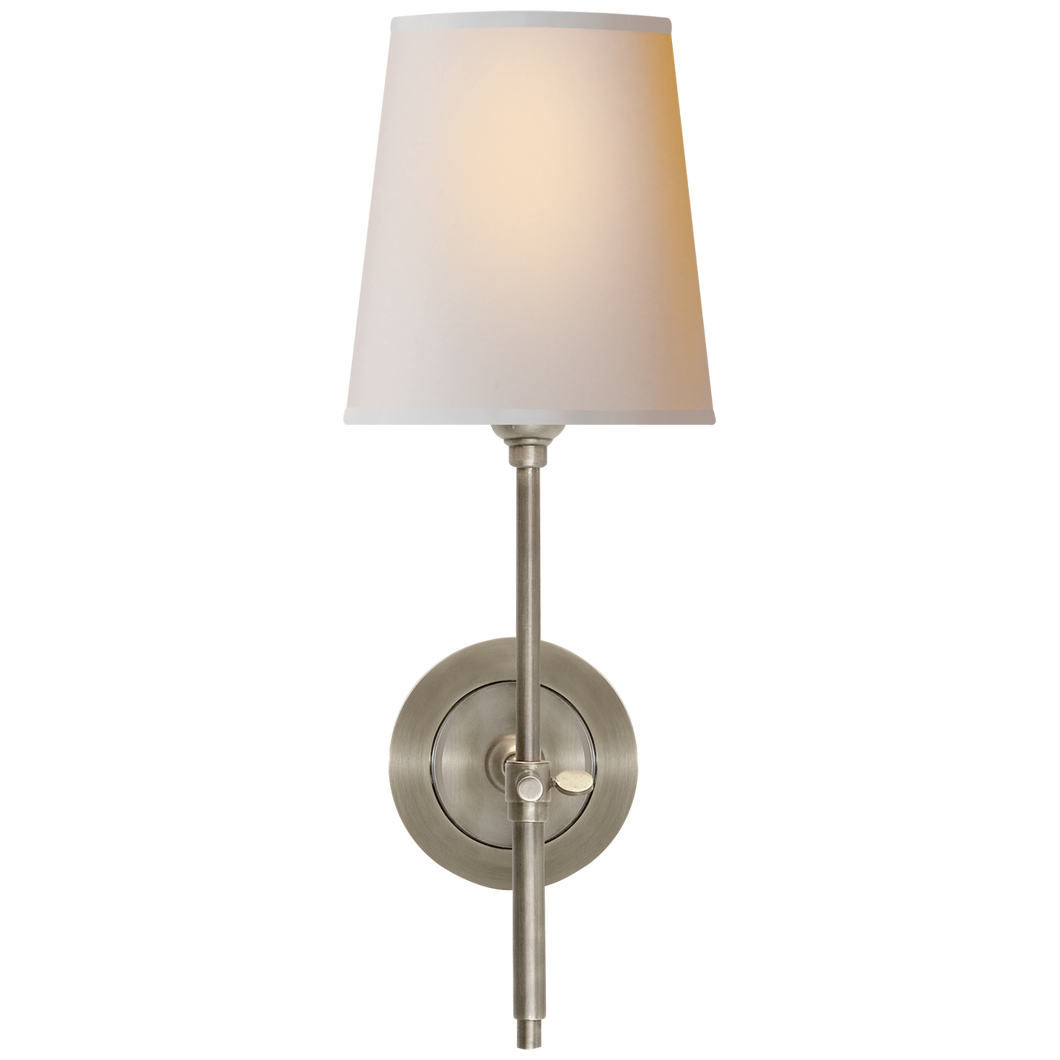 Bryant Sconce in Antique Nickel with Natural Paper Shade