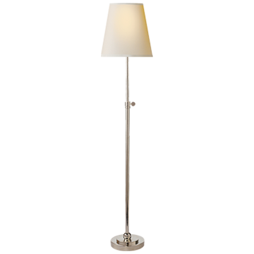 Bryant Table Lamp in Polished Nickel with Natural Paper Shade