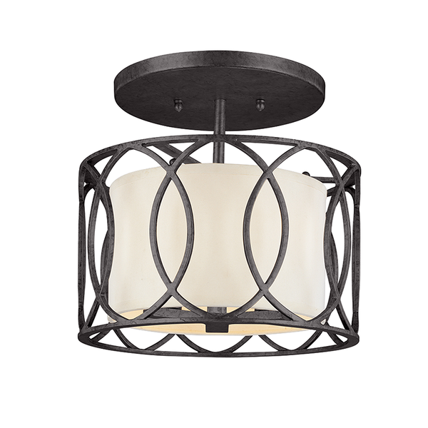 Deep Bronze Sausalito Semi Flush Mount