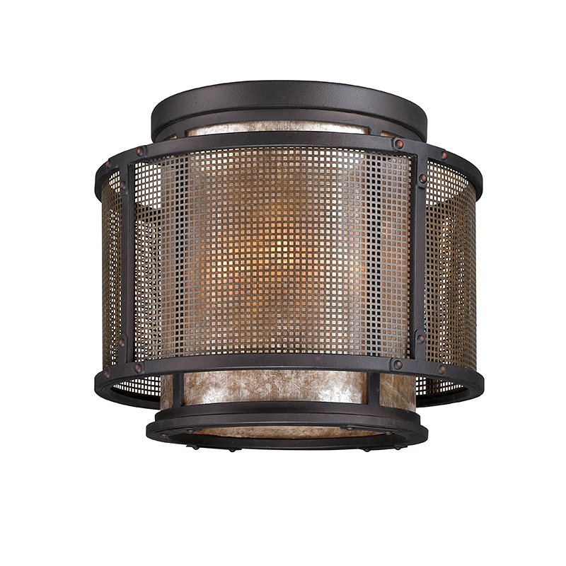 Copper Mountain Bronze Mesh Ceiling Mount, Lighting, Laura of Pembroke