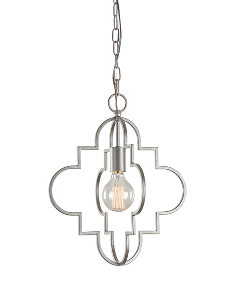 Rusty Silver 1 Light Pendant, Lighting, Laura of Pembroke