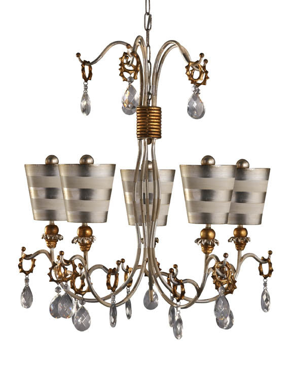 Silver 5 Arm Chandelier, Lighting, Laura of Pembroke