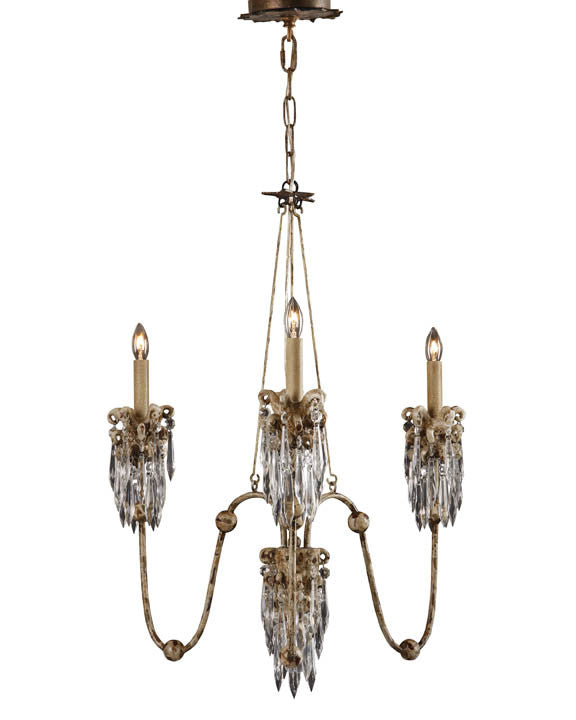Crystal Drop 3 Arm Chandelier, Lighting, Laura of Pembroke