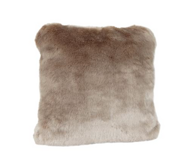 Champagne Mink Faux Fur Pillow