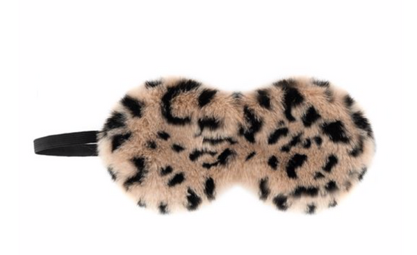 CHEETAH FAUX FUR SLEEP MASK