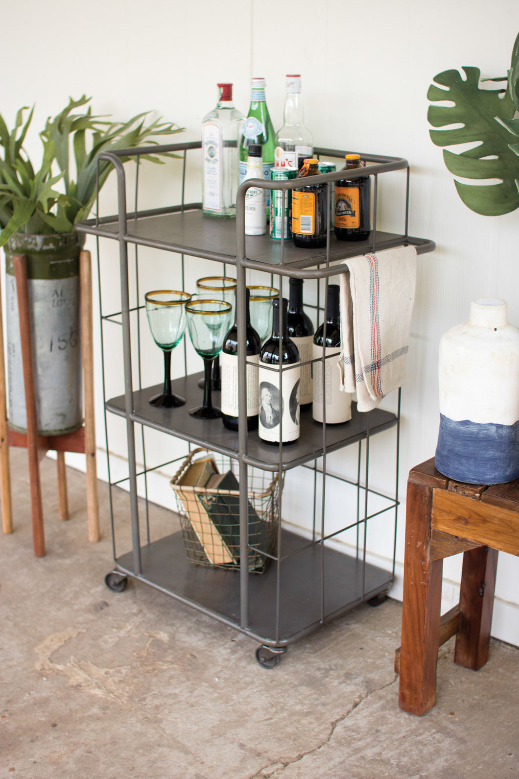 Three Tiered Rolling Shelf/Cart, Home Furnishings, Laura of Pembroke